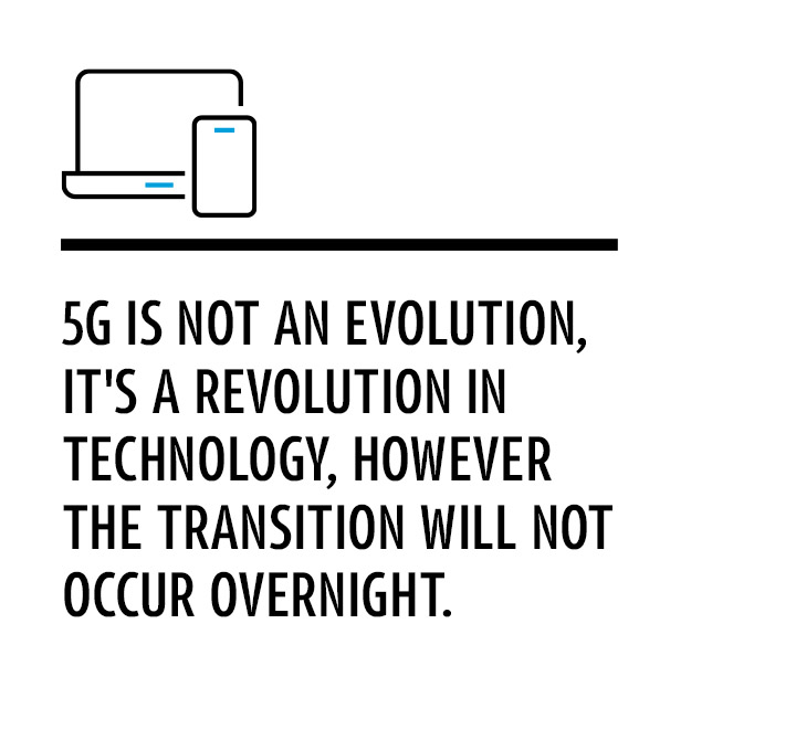 5G is not an evolution, it's a revolution in technology, however the transition will not occur overnight.