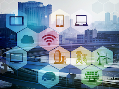 smart city and internet of things, renewable energy, environment concept image, smart grid, abstract background visual