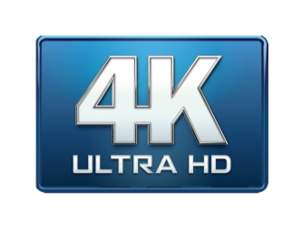 4K Ultra HD logo icon