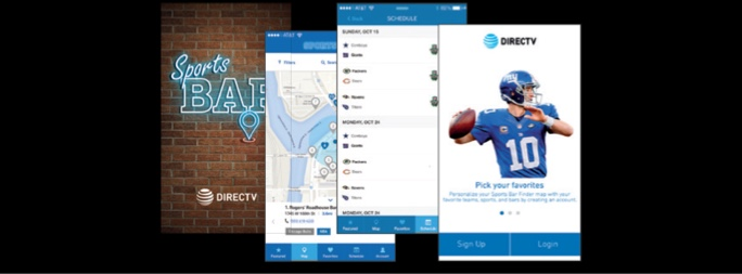 DIRECTV Sports Bar Finder locator